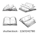 vintage hand drawn sketch set... | Shutterstock .eps vector #1265242780