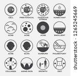 skin icon vector set   cell... | Shutterstock .eps vector #1265245669
