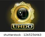 gold shiny emblem with toilet... | Shutterstock .eps vector #1265256463
