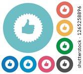 thumbs up sticker flat white... | Shutterstock .eps vector #1265258896
