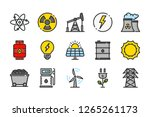 energy related color line icons....