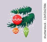 primitive pixel image of spiny... | Shutterstock .eps vector #1265262586