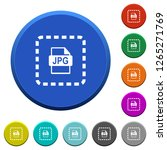 place jpg file round color... | Shutterstock .eps vector #1265271769