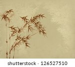 design of chinese bamboo trees... | Shutterstock . vector #126527510