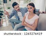 portrait of two attractive sad...   Shutterstock . vector #1265276419