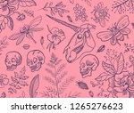 hand drawn illustration. a huge ... | Shutterstock .eps vector #1265276623