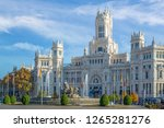 the famous cibeles fountain in... | Shutterstock . vector #1265281276