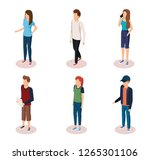 group of people characters | Shutterstock .eps vector #1265301106