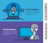 artificial intelligence... | Shutterstock .eps vector #1265303803