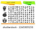tasty icon set. 120 filled... | Shutterstock .eps vector #1265305153