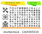 mechanical icon set. 120...   Shutterstock .eps vector #1265305210
