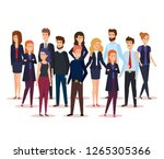 group of business people... | Shutterstock .eps vector #1265305366