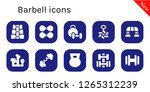 barbell icon set. 10 filled...   Shutterstock .eps vector #1265312239