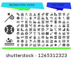 recreation icon set. 120... | Shutterstock .eps vector #1265312323