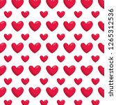 hearts love pattern background | Shutterstock .eps vector #1265312536