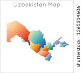 low poly map of uzbekistan.... | Shutterstock .eps vector #1265314606