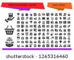 merchandise icon set. 120... | Shutterstock .eps vector #1265316460