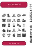 recreation icon set. 25 filled ... | Shutterstock .eps vector #1265316499