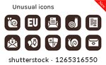 unusual icon set. 10 filled... | Shutterstock .eps vector #1265316550