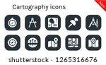 cartography icon set. 10... | Shutterstock .eps vector #1265316676