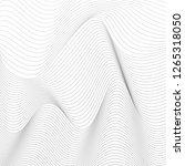 black and white wavy stripes... | Shutterstock .eps vector #1265318050