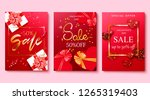 valentine's day sale background ... | Shutterstock .eps vector #1265319403