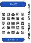 reader icon set. 25 filled... | Shutterstock .eps vector #1265320336