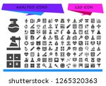 analysis icon set. 120 filled... | Shutterstock .eps vector #1265320363