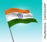 waving indian flag. vector... | Shutterstock .eps vector #1265321659