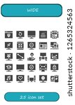 wide icon set. 25 filled wide... | Shutterstock .eps vector #1265324563