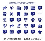 broadcast icon set. 30 filled... | Shutterstock .eps vector #1265324680
