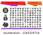 dollar icon set. 120 filled... | Shutterstock .eps vector #1265324716