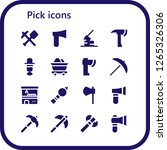 pick icon set. 16 filled pick... | Shutterstock .eps vector #1265326306