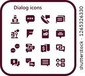 dialog icon set. 16 filled... | Shutterstock .eps vector #1265326330