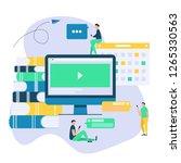 online education flat... | Shutterstock .eps vector #1265330563