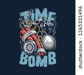 time bomb vector | Shutterstock .eps vector #1265331496