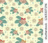 seamless christmas pattern with ... | Shutterstock .eps vector #1265337196