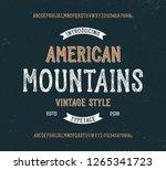"""american mountains"". original ... | Shutterstock .eps vector #1265341723"