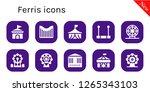ferris icon set. 10 filled... | Shutterstock .eps vector #1265343103