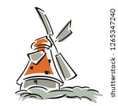 agricltr  windmill clipart... | Shutterstock .eps vector #1265347240