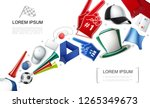 realistic fans attributes... | Shutterstock .eps vector #1265349673