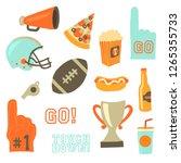super bowl party vector icon... | Shutterstock .eps vector #1265355733