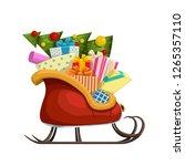 santa sleigh with tree | Shutterstock .eps vector #1265357110