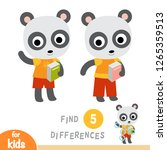 find differences  education... | Shutterstock .eps vector #1265359513