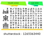tower icon set. 120 filled... | Shutterstock .eps vector #1265363440