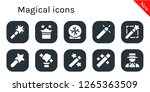 magical icon set. 10 filled...   Shutterstock .eps vector #1265363509