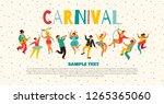 hello carnival vector...   Shutterstock .eps vector #1265365060