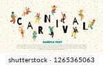 hello carnival vector... | Shutterstock .eps vector #1265365063