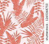 tropical abstract living coral... | Shutterstock .eps vector #1265368753