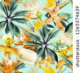 seamless floral pattern with... | Shutterstock . vector #1265374639